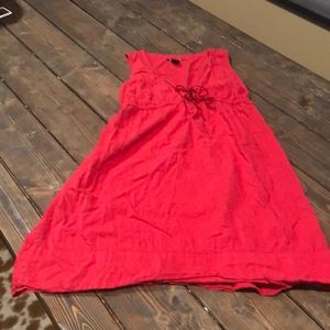 Lucy brand red short dress tie front
